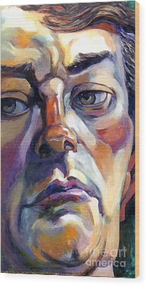 Face Of A Man Wood Print by Stan Esson