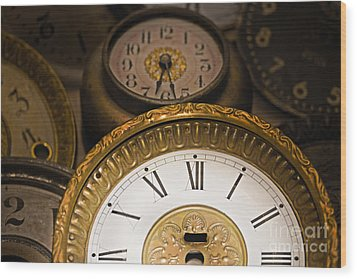 Face Of Time Wood Print by Tom Gari Gallery-Three-Photography