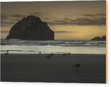 Face Rock Bandon By The Sea Wood Print by Jean-Jacques Thebault