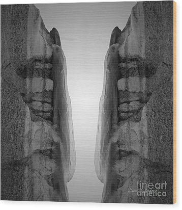 Face To Face Montage I Wood Print by Dave Gordon