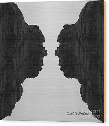 Face To Face Montage II Wood Print by Dave Gordon