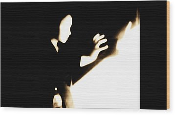 Wood Print featuring the photograph Faceless Magician  by Jessica Shelton