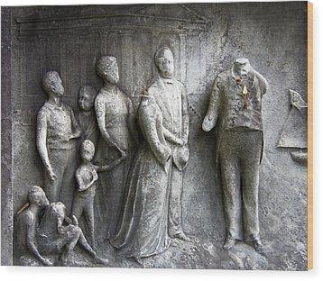 Faceless Memorial Wood Print by Adam L