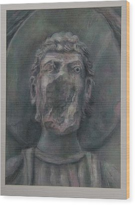 Faceless Saint I  Wood Print by Paez  Antonio