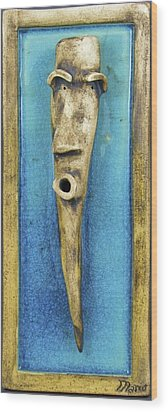 Faces #7 Wood Print by Mario Perron