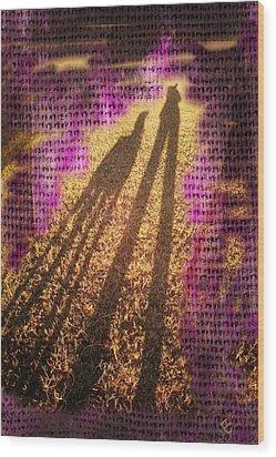 Facing The Sun Wood Print by Ernestine Manowarda