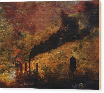 Factory Wood Print by Bruce Rolff