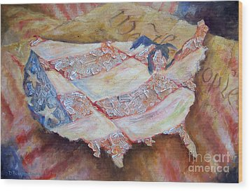 Faded Glory Wood Print by Deborah Smith