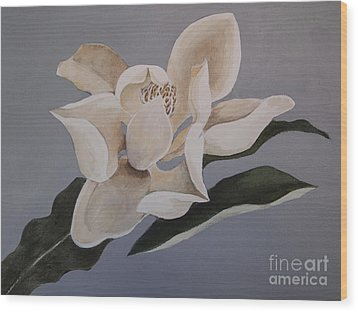 Wood Print featuring the painting Faded Glory by Nancy Kane Chapman