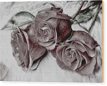 Faded Love Wood Print by Bonnie Willis