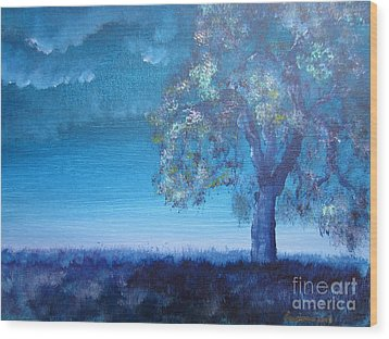 Wood Print featuring the painting Fading Light by Laurianna Taylor