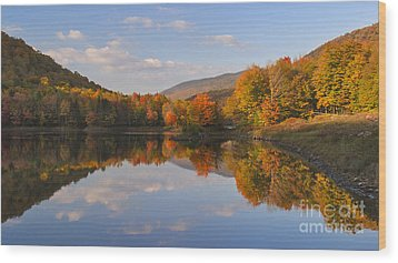 Fading Light On Searsburg Reservoir Wood Print