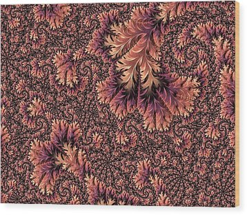 Faerie Forest Floor Ill Wood Print by Susan Maxwell Schmidt