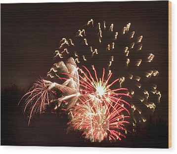 Wood Print featuring the photograph Faerie In The Fireworks by Terri Harper