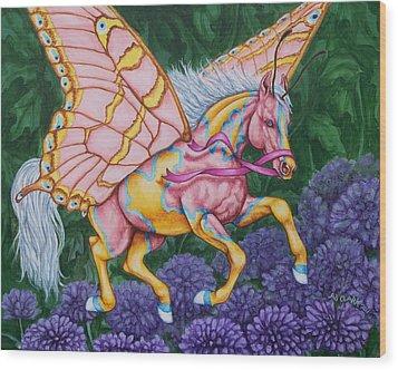 Faery Horse Hope Wood Print by Beth Clark-McDonal