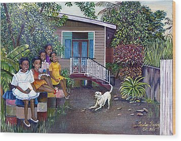 Fair Ladies Wood Print by Trister Hosang