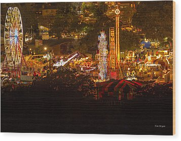 Fair Time In Paso Robles Wood Print