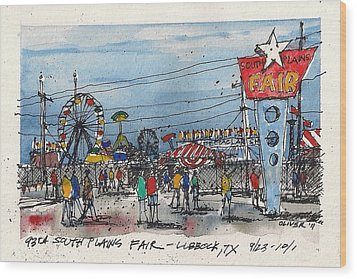 Wood Print featuring the mixed media Fair Time by Tim Oliver