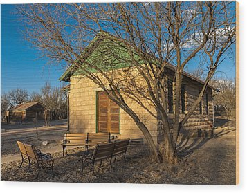 Wood Print featuring the photograph Fairbank Schoolhouse by Beverly Parks