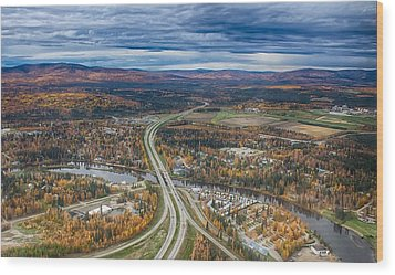 Wood Print featuring the photograph Fairbanks Alaska The George Parks Highway by Michael Rogers