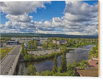 Fairbanks Alaska The Golden Heart City 2014 Wood Print