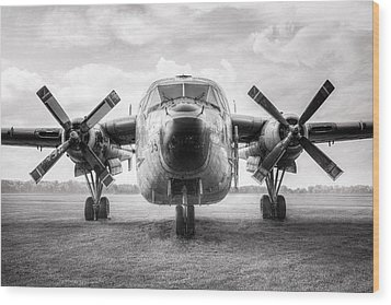 Wood Print featuring the photograph Fairchild C-119 Flying Boxcar - Military Transport by Gary Heller