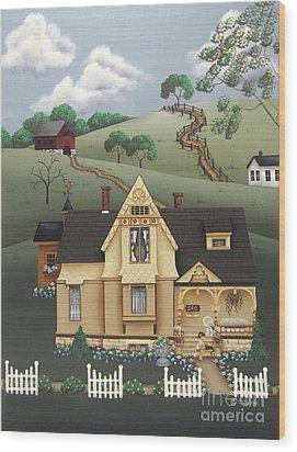 Fairhill Farm Wood Print by Catherine Holman