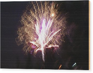 Fairies In The Fireworks I Wood Print by Jacqueline Russell