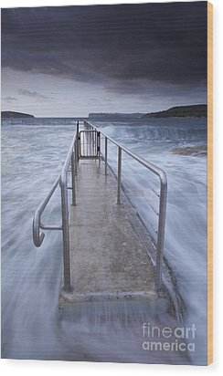 Fairlight Tidal Pool Wood Print by Donald Goldney