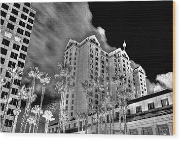 Fairmont From Plaza De Cesar Chavez Wood Print