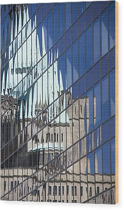 Fairmont Reflections Wood Print