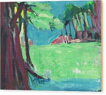 Fairway In Early Spring Wood Print by Betty Pieper