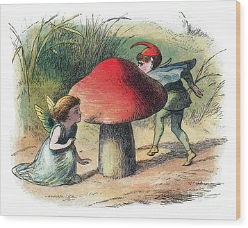 Fairy And Elf-legendary Creatures Wood Print by Photo Researchers