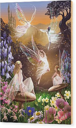Fairy Ballet Wood Print by Garry Walton
