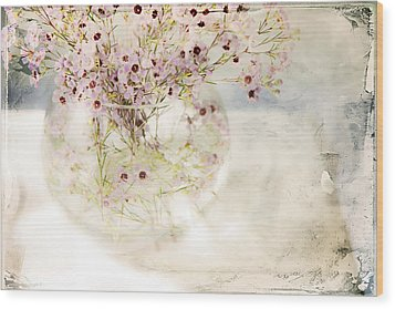 Fairy Bouquet Wood Print by Theresa Tahara