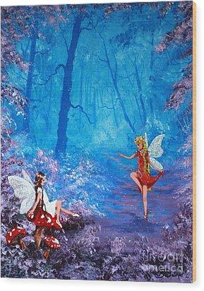 Fairy Dancer Wood Print