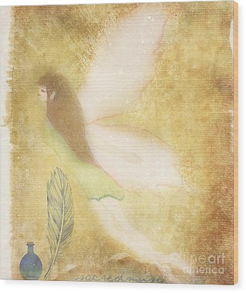 Fairy Folk Magic Wood Print by Sacred  Muse