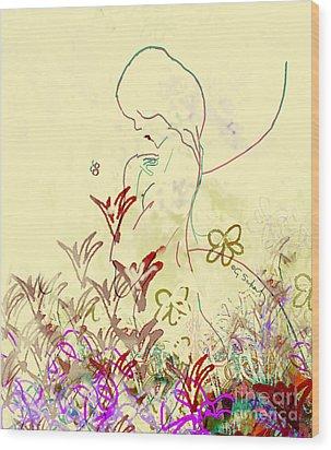 Wood Print featuring the digital art Fairy by Gabrielle Schertz