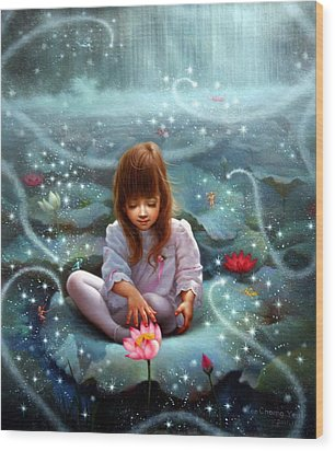 Girl And The Seven Fairy 3 Wood Print