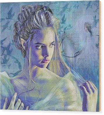 Fairy Queen Wood Print by Jane Schnetlage