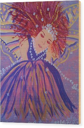 Wood Print featuring the painting Fairy Remi by Judi Goodwin