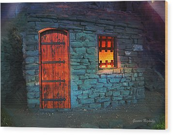 Fairy Tale Cabin Wood Print
