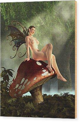 Fairy Toadstool Wood Print by Kaylee Mason