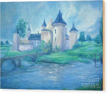 Fairytale Castle Where Dreams Come True Wood Print