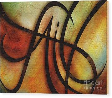 Faith Abstract Wood Print by Shevon Johnson