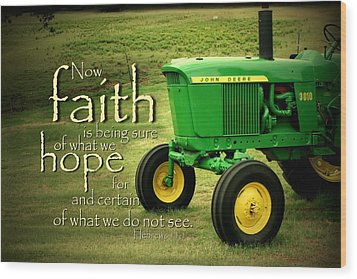 Faith And Hope Wood Print by Linda Fowler