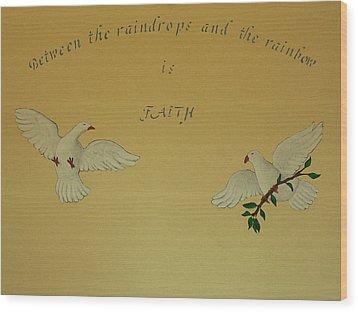 Faith Wood Print by Dan Wagner