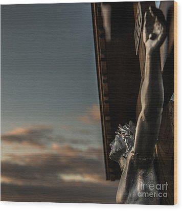 Faith Wood Print by Hannes Cmarits