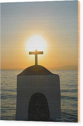 Wood Print featuring the photograph Faith by Leena Pekkalainen