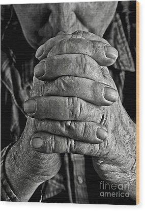 Faithful Hands Wood Print